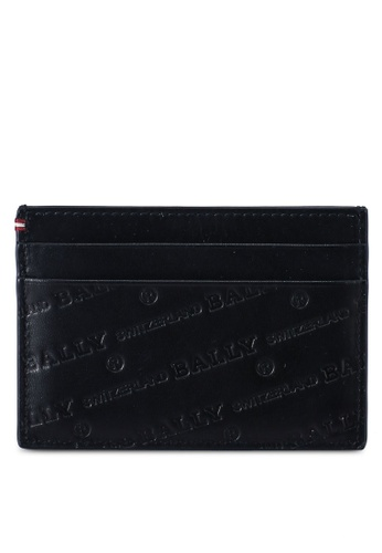 Bally black Bhar OB Card Holder (oc) 26E24ACDFE6935GS_1