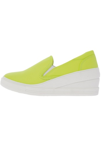 Maxstar 7H Synthetic Leather White Platform Slip on Sneakers US Women Size MA168SH83DLOHK_1