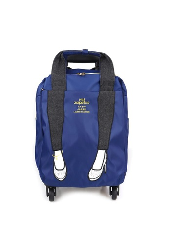 mis zapatos navy Mis Zapatos IC032-Navy 2-way function: Luggage and Backpack with Trolley AEA23ACBE27FA2GS_1
