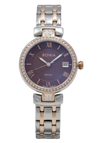 Bonia gold and silver Bonia Jam Tangan Wanita - Silver Rosegold Brown - Stainless Steel - BNR115-2643S 7F195AC6A86AB8GS_1