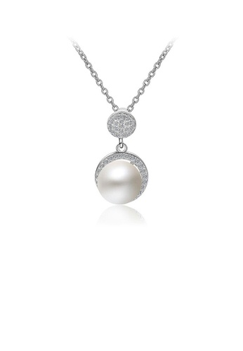 Glamorousky white 925 Sterling Silver Mother's Day Pearl Pendant with Austrian Element Crystal and Necklace 74BE9ACAA0D8E4GS_1