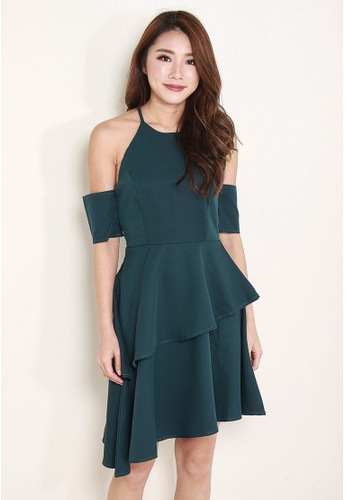 Leline Style green Christy Layered Dress LE802AA0FXKZSG_1