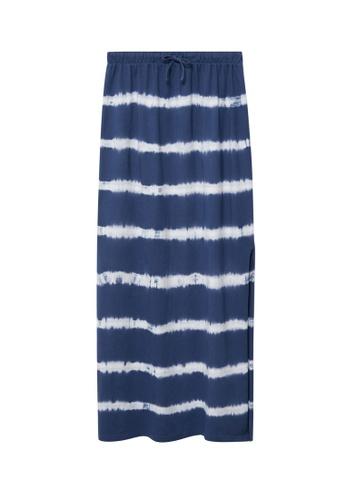 MANGO KIDS blue Tie-Dye Cotton Skirt F5147KA5E0B26EGS_1