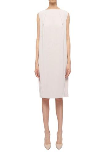 CK CALVIN KLEIN beige Soft Matte Jersey Dress 7F17AAAEB7E1EAGS_1