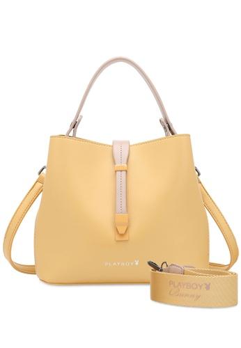 PLAYBOY BUNNY 黃色 Women's Hand Bag / Top Handle Bag / Shoulder Bag DAD3BAC9EBB059GS_1