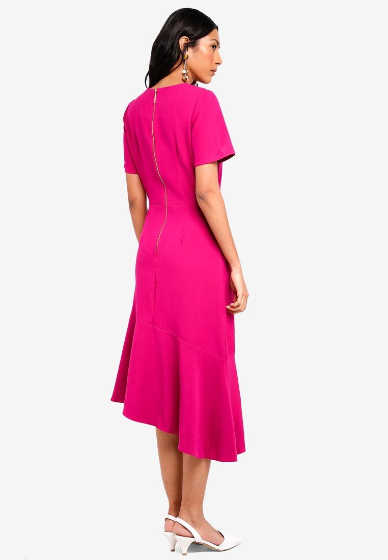 Frill Magenta CLOSET Dress Dress Asymmetric Asymmetric Frill 1YtpUaqwwx