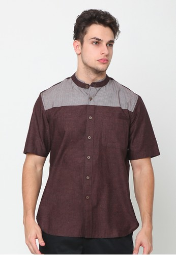 A & D brown Ms 1207 Casual Short Sleeve 00C79AA540B941GS_1