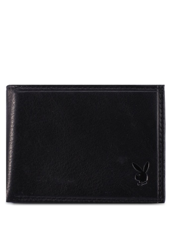 Playboy black Embossed Bifold Wallet 9A2A8ACDFE9FD7GS_1