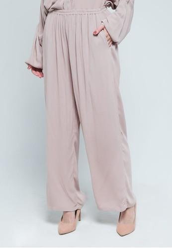 9 to 12 pink Crinkled Comfy Pants 54847AAF2607F6GS_1