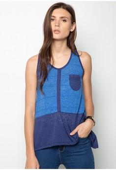 Belle Color Blocked Sleeveless Shirt