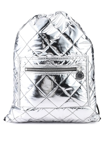 La Fille Des Fleurs silver Nebula Space Backpack E8F78AC03FBDC6GS_1