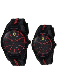 Ferrari RedRev Red and Black Watch Gift Set