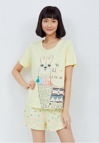 Maddie Lee yellow Maddie Lee Piyama Pendek Wanita Dewasa Dress LLAMA Drama Tassel Yellow 0A7EFAAF1469F8GS_1