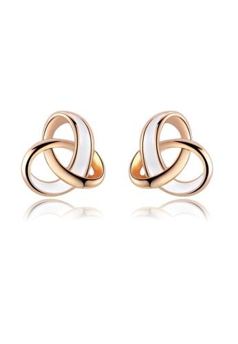 Kings Collection gold Rose Gold Circle Elegant Stud Earrings 5B63FACC9390AFGS_1