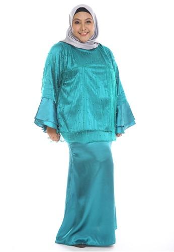 Mariani Modern Kurung from PLUMERIA in green_1