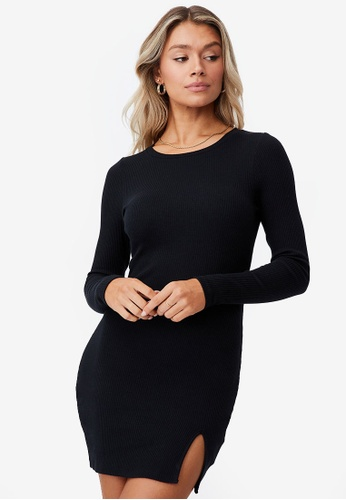 Supre black Laila Long Sleeve Mini Dress 562CAAABCA7661GS_1