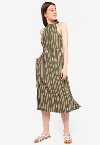 Something Borrowed green Cut-In Midi Dress D8103AA0984AD8GS_1
