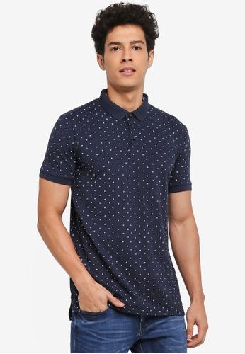 ESPRIT navy Short Sleeve Polo Shirt C140AAA5E17E90GS_1