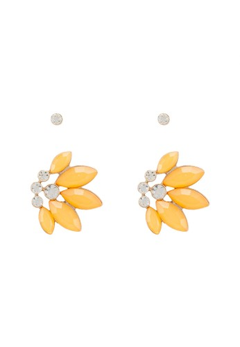 ONLY yellow Bonnie 2-Pack Earrings AC51DAC2F34987GS_1