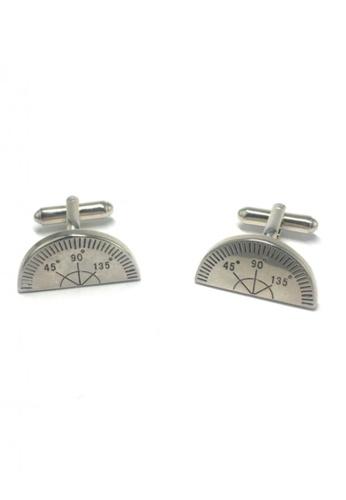 Splice Cufflinks silver Silver Protractor Cufflinks SP744AC89FUCSG_1