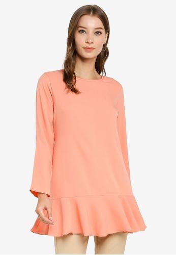 Aqeela Muslimah Wear pink Back Button Blouse 3B25FAADEEA11FGS_1