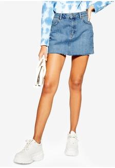 3558a3da28 Petite Denim Mini Skirt 1E1D1AA919B8B1GS 1 TOPSHOP ...