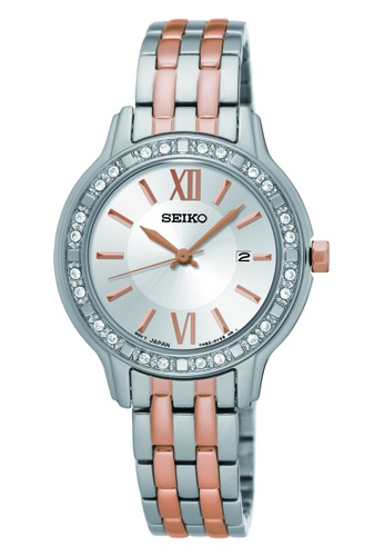 Seiko silver Women's Analogue Quartz Watch in White Dial and Stainless Steel Bracelet 3C5B7AC7F454DCGS_1