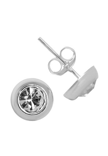 Elfi silver Elfi 925 Sterling Silver Thumbtack Stud Earrings SE67 56E65ACFF8E2F7GS_1
