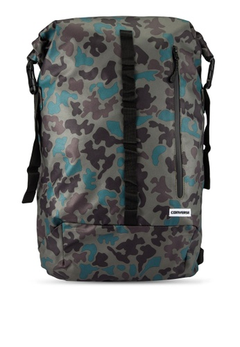 Converse green Utility Rolltop Backpack CO302AC0RZZ0MY_1