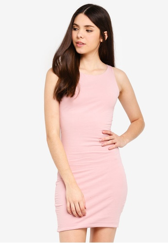 Supre pink High Neck Mini Dress 3F18AAAC3DF64AGS_1