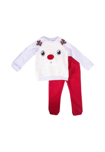 LC Waikiki white Baby Boy's Sweatshirt and Trousers A93BDKA028AF94GS_1
