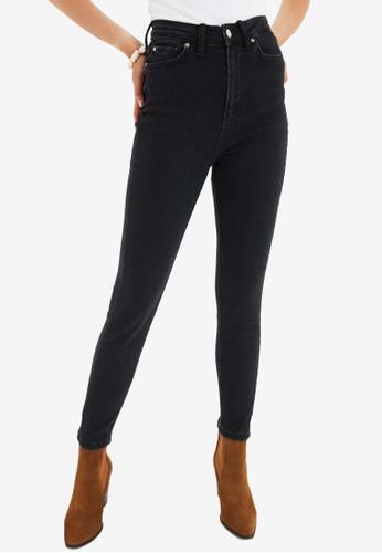 Trendyol black High Waist Skinny Jeans 324DCAA9CECE10GS_1