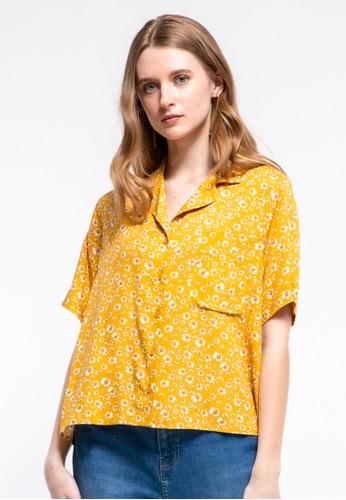 et cetera yellow Notch Collar Shirt CF04BAA6FB6F8FGS_1