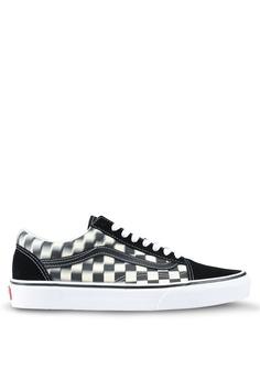 cd548b8e4f3 VANS black and white Old Skool Blur Check Sneakers 02B6FSHA22DDADGS 1