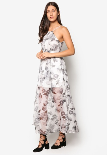 Buy Something Borrowed Floral A-Line Maxi Dress  ZALORA Singapore