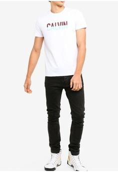 20630c90132e5 25% OFF Calvin Klein Short Sleeve Fashion Logo Slim Tee - Calvin Klein Jeans  RM 279.00 NOW RM 207.90 Sizes L XL