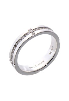 Prosperity Silver Ring with Artificial Diamonds for Men lr0029m