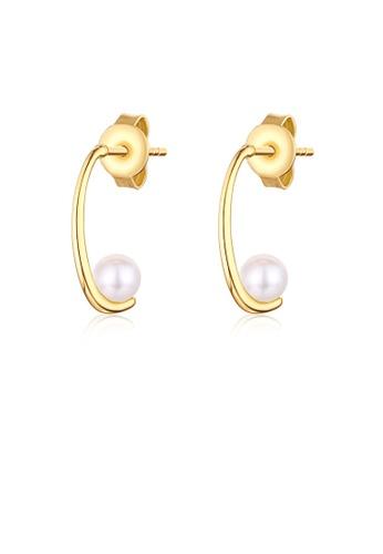 SUNSET gold Premium 9K Gold Pearl Earring 3B0B2ACC7C4CA3GS_1