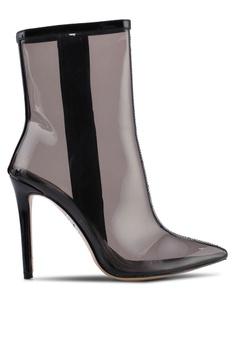 9755905321d Public Desire black Sheer Perspex Stiletto Heel Ankle Boots  59E43SH6C93112GS_1