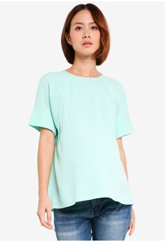 8be041935fd Spring Maternity green Maternity Zenna Nursing Top 0A0A7AAB30558AGS_1
