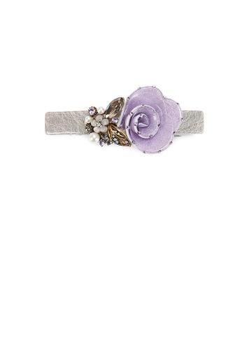 Glamorousky purple Fashion and Elegant Purple Flower Hair Slide with Cubic Zirconia D10FBAC0E9532CGS_1