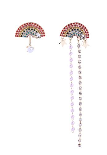 Sunnydaysweety multi Rainbow Stud and Thread Earrings K20050509 ADCC1AC0DC9978GS_1
