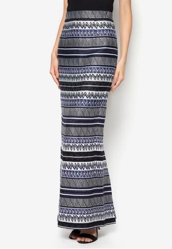 Jacquard Straizalora 台灣ght Skirt, 服飾, 服飾