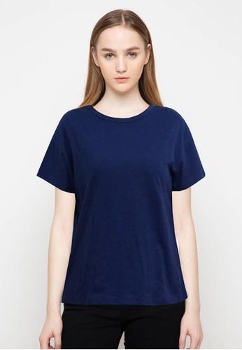 BASIC ONE blue Basic One T-Shirt Plain Blue A5DF6AA3DA5532GS_1