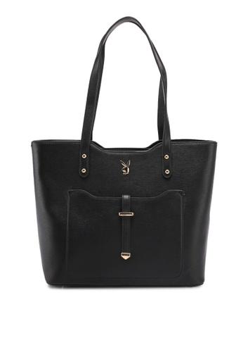 7ce500767ece PLAYBOY BUNNY black Playboy Bunny Ladies Handbag EFD9FAC3CD88BAGS 1