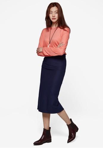基本zalora 衣服評價款後開衩及膝裙, 服飾, 裙子