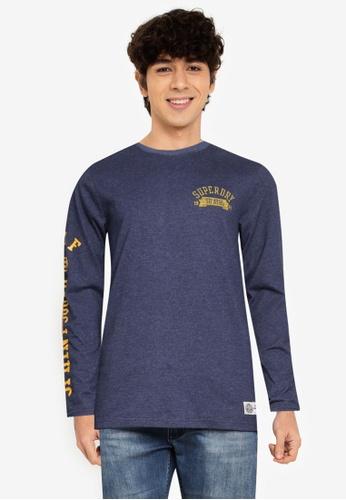 Superdry 藍色 T&F 長袖上衣 33DB9AA7DA84C9GS_1