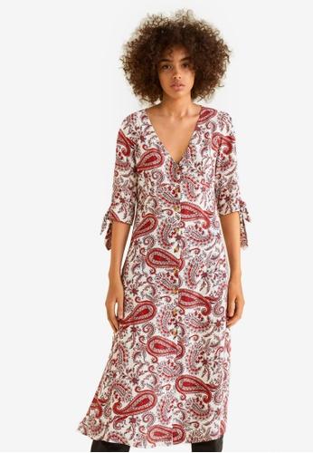 Mango red Midi Printed Dress 88152AA6F396BAGS_1