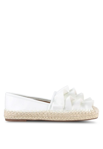 Something Borrowed white Ruffled Slip Ons 78EAESH26B9D4DGS_1