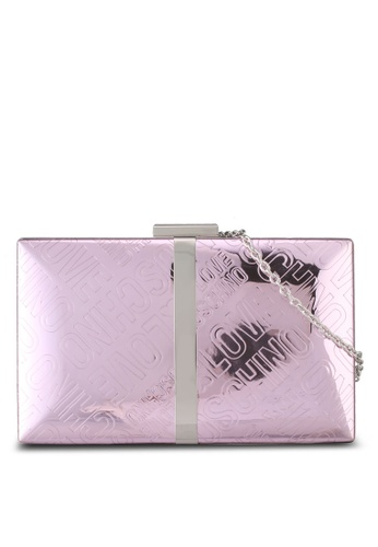 Love Moschino pink LOVE MOSCHINO Borsa Embossed Clutch LO478AC0SXXZMY_1